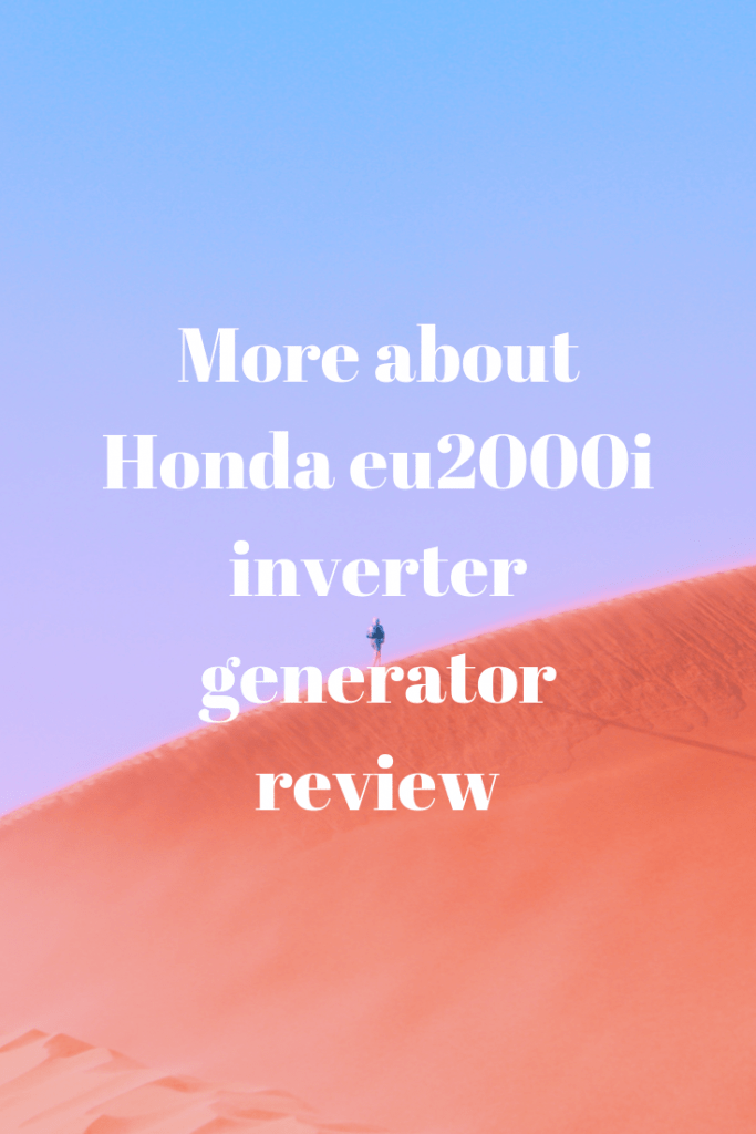 More about Honda eu2000i
