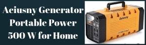 Aeiusny Generator Portable Power 500 W for Home