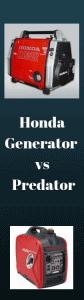 Honda Generator vs Predator