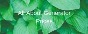 All About Generator Prices.