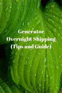 Generator Overnight Shipping (Tips and Guide)