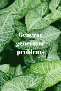 Generac generator problems