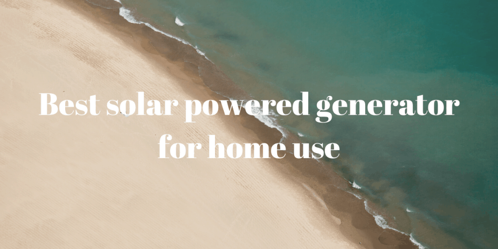 generator for home use