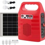 Portable Solar Generator,Portable Solar Generator with Solar Panel,Solar Power Generator Kit,Camping Fishing Emergency Electric Generator,Solar Powered Charger,Lithium Battery Backup Po