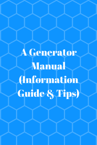 A Generator Manual (Information)