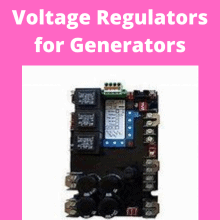 Voltage Regulators Generators