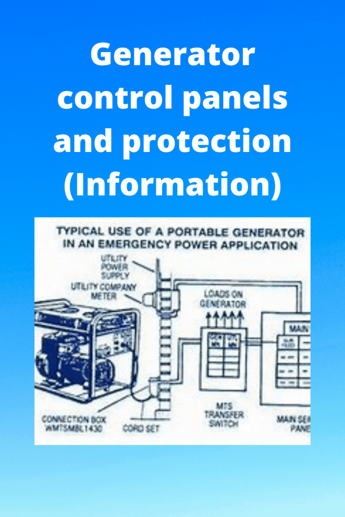 Generator control panels and protection (Information)