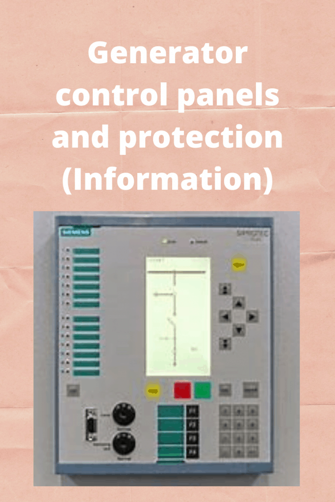 Generator control panels and protection