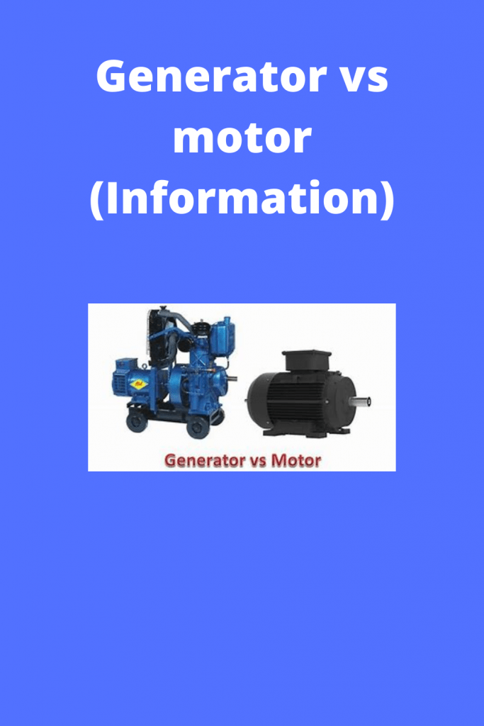 Generator vs motor