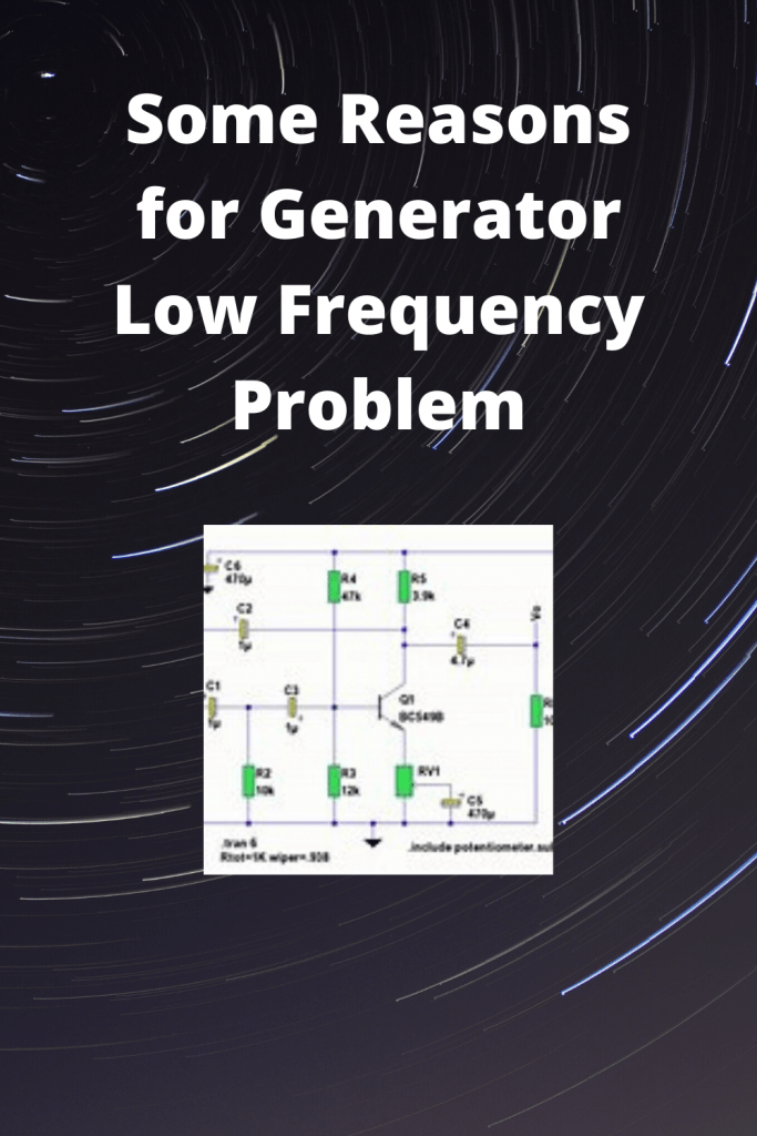 Reasons for Generator Low Frequency Problem