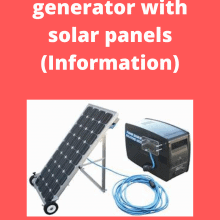 generator with solar panels (Information)