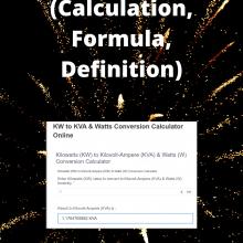 kw vs kva (Calculation, Formula,