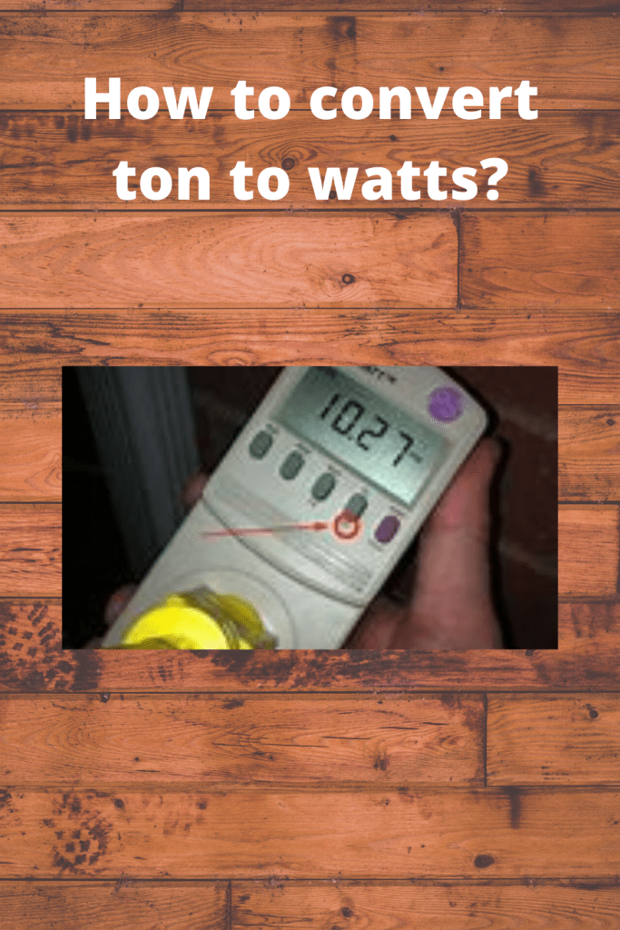 How to convert ton to watts info