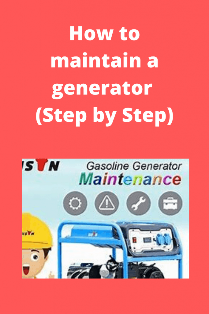 How to maintain a generator Tips