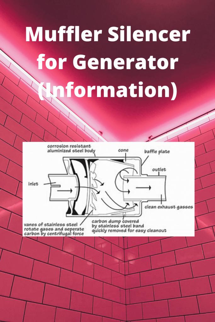 Muffler Silencer for Generator