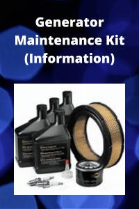 Generator Maintenance Kit (Information Tips)