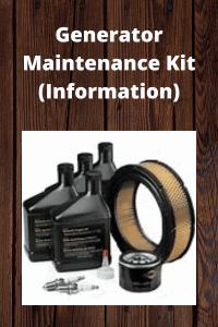 Generator Maintenance Kit