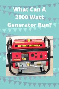 What Can A 2000 Watt Generator Run tips
