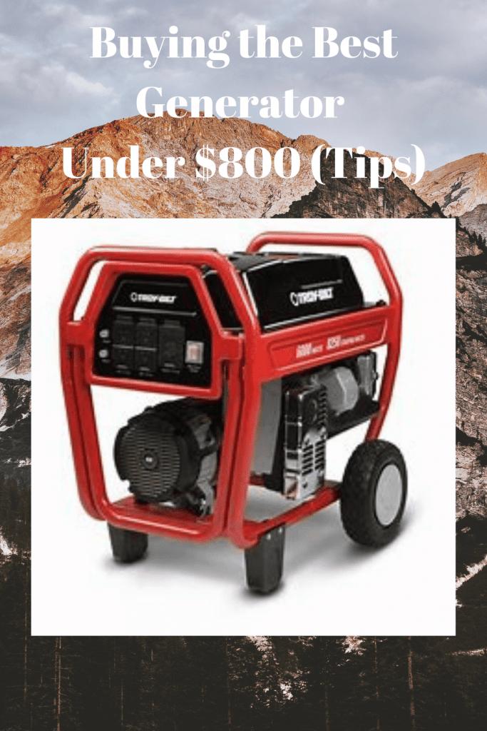 Best Generator Under $800